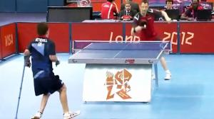 Amazing Ping Pong Shot at Paralympics