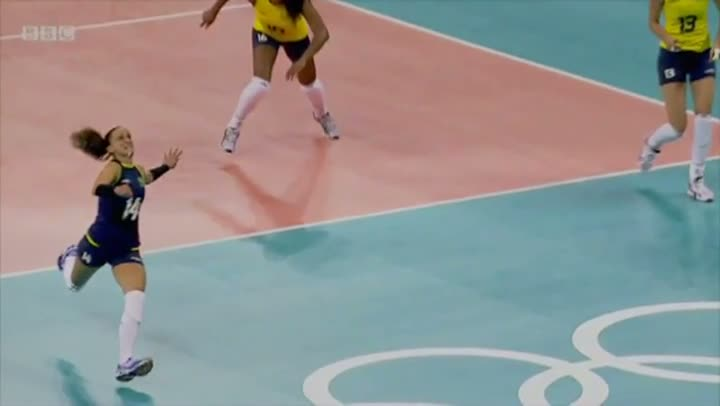 Coolest Volleyball Play During Olympics 2012