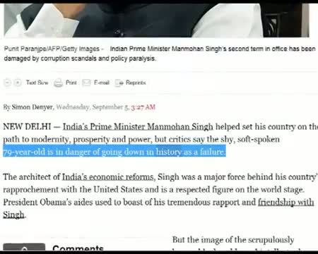 Will publish PM's version as well Washington Post