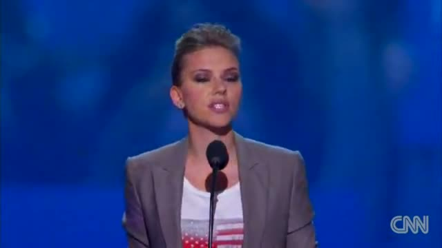 Scarlett Johansson urges young Americans to vote in DNC speech