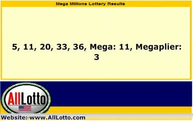 Mega Millions Lottery Drawing Results Sept. 11, 2012