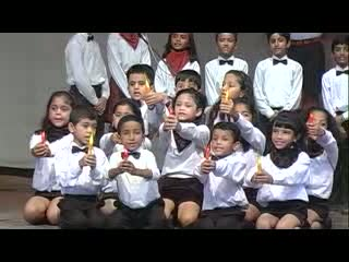 St. Xavier Delhi - Music Fest 2012 - English Group Song - Carry Your Candle - Junior Students