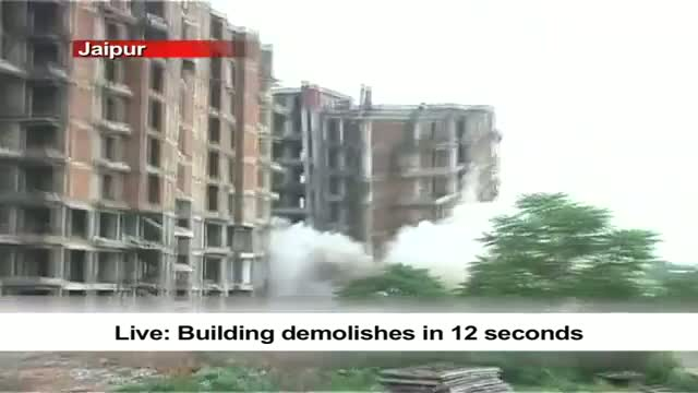 Live Building demolishes in 12 seconds