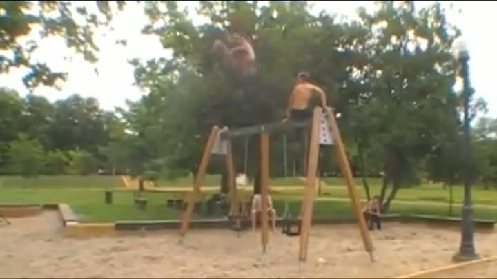 Sick Swing Set Headplant
