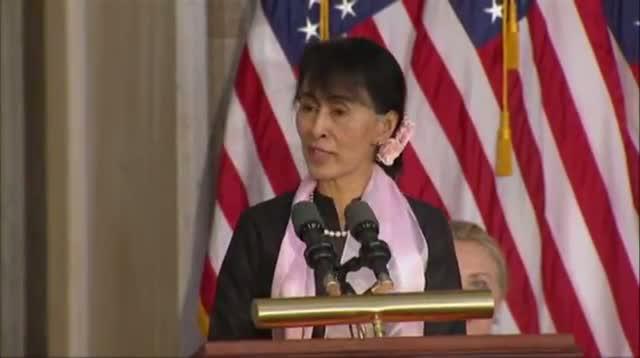 Myanmar's Suu Kyi Gets Congress' Highest Honor