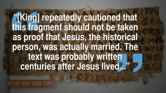 'Jesus' Wife' Papyrus Doubted