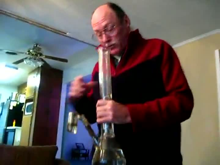 Grandfather Hits the Bong