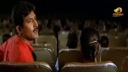 Chirunavvutho Movie Scenes - Venu staring at Shaheen in the theatre - Venu, Shaheen - Telugu Cinema Movies