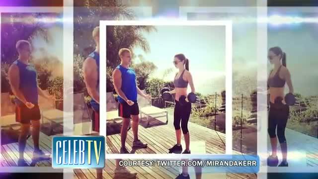 MIRANDA KERR Posts Work Out Pics