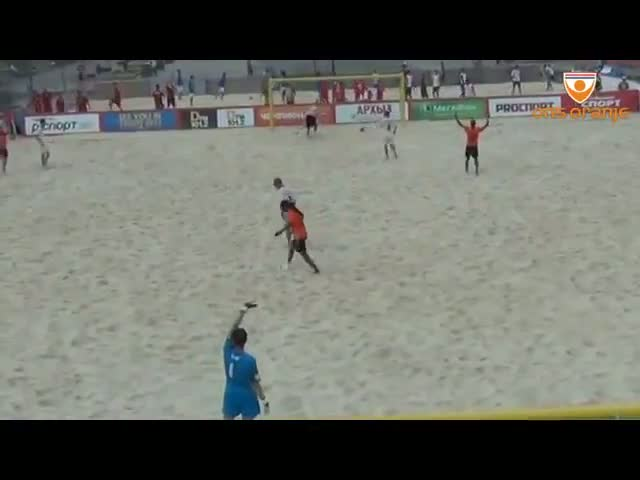 Stunning overhead kick WC-qualification beach soccer