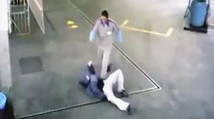 Robber Gets Leg Sweeped Arcade Style