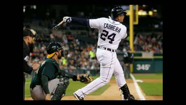 Detroit Tigers Miguel Cabrera wins The Triple Crown .330 Batting Average 44 Homeruns 139 RBI's