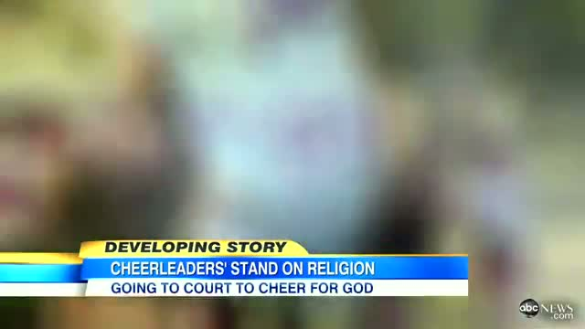 Cheerleaders Religious Signs Ban: High School Girl's Bible Verse Banners Banned