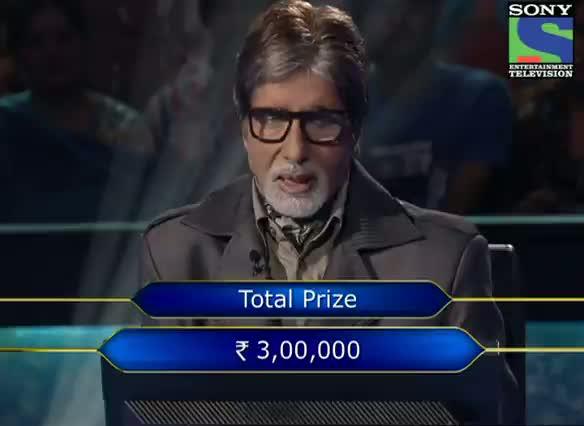 KBC 2012 - Season 6 - Episode 14 - Ghar Baithe Jeeto Jackpot (GBJJ) Call - Nand Kishor from Lucknow locks the wrong answer - 7th Oct 2012