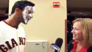 Pablo Sandoval Hits Female Reporter With Shaving Cream