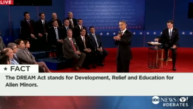Second Presidential Debate 2012: Obama; Romney Said 'I Would Veto the Dream Act'