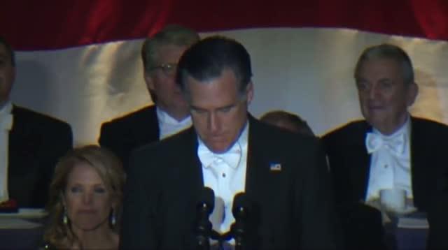 Romney Jokes About Himself, Obama at Dinner