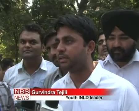 INLD burns Rahul Gandhi's effigy in Yamuna Nagar