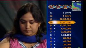 KBC 2012 - Season 6 - Episode 19 - Winning Moments - Shatabdi Awasthi prefers to quit by winning Rs. 50,00,000 - 20th Oct 2012