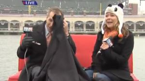 Bird Poops on Anchor During Live World Series Coverage