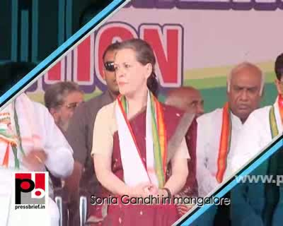 Sonia Gandhi strikes chord with the people in Mangalore