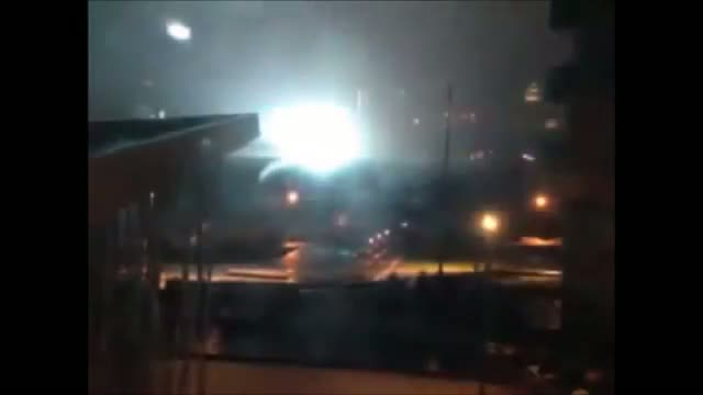 Big Explosion during Hurricane Sandy - Hurricane Sandy 2012