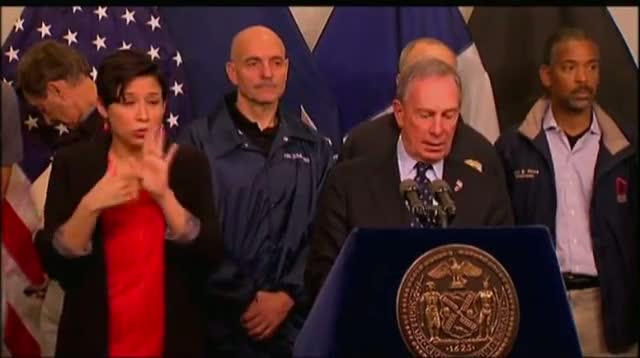 Bloomberg: 18 NYC Fatalities From Sandy