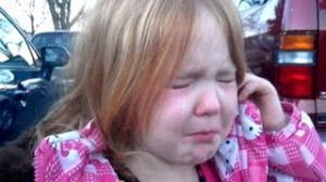 Little Girl Cries Over Bronco Bama and Mitt Romney