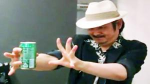 Awesome Japanese Beer Can Trick.