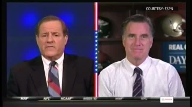 ESPN Airs Obama, Romney Halftime Interviews
