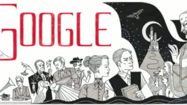 Bram Stoker's 165 Birthday - Google Doodle 2012