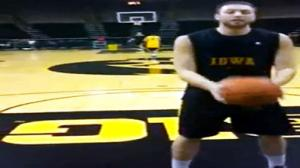 Iowa Basketball Player Hits Amazing Backwards Shot