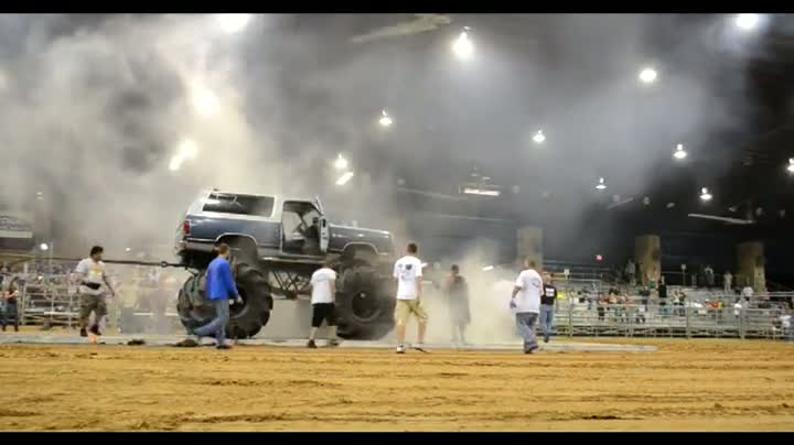 Truck Blows Up During Tug-O-War