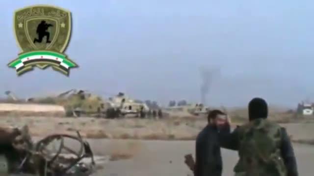 Raw: Syria Rebels Capture Air Base Near Damascus