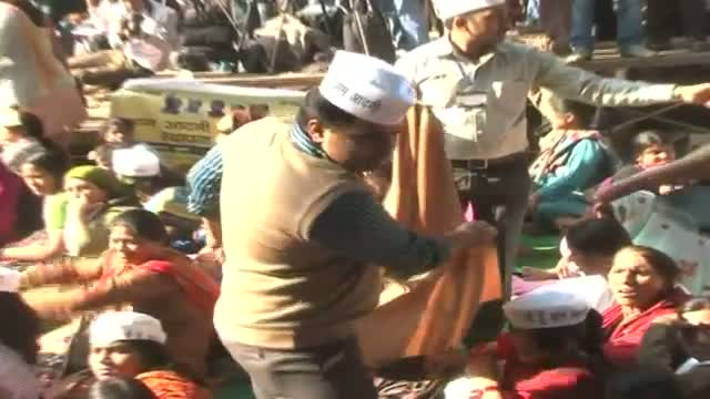 Aam Aadmi Party conducts first rally at Jantar Mantar