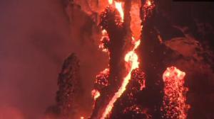 Watch Lava Flow Into Ocean