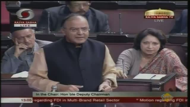 Jaitley points out the shortcomings of FDI in RS
