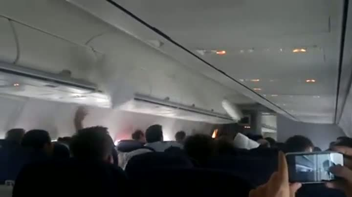 Epic Pillow Fight Breaks Out On Airline Flight