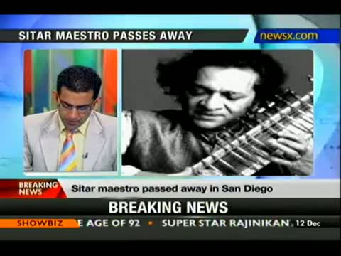 Sitar maestro Pandit Ravi Shankar passes away video