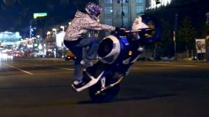 Night Ride - Motorcycle Stunts