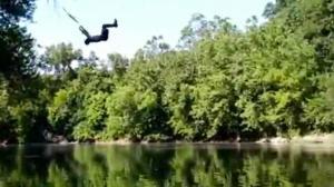 Rope Swing Backflip Goes Wrong