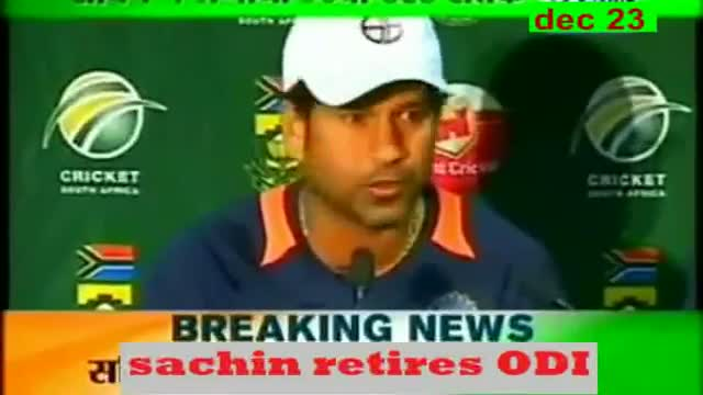 Sachin Tendulkar retires from ODI cricket - World not ended on 21st Dec, but a World of Cricket ended TODAY !