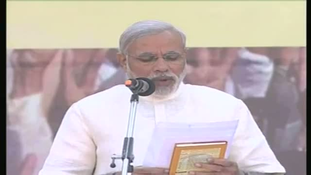 Modi takes oath as chief minister for fourth term