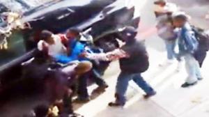 Guy Breaks Up Fight From His Window