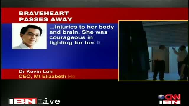 Indian Rape Victim Dies In Singapore Hospital : Delhi Bus Gang Rape Victim Dies of Organ Failure