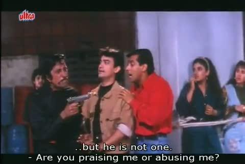 Andaz Apna Apna - Comedy Scene - Paresh Rawal, Shakti Kapoor