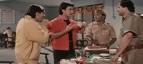 Andaz Apna Apna - Comedy Scene - Aamir Khan and Salman Khan in Police Station