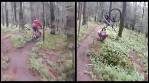 Mountain Biker's Faceplant