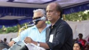 Rajinikanth at Tamil Film Industry Hunger Strike Against Service Tax Stills