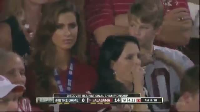 "Brent Musburger Goes ""CRAZY"" Over AJ McCarron's Girlfriend Beautiful Katherine Webb (HD)"